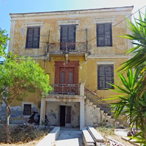 neoclassical mansion in Agia Marina, Leros