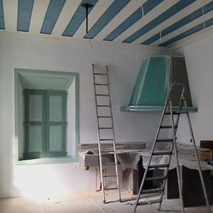 renovation of large, old house in Christos, Leros